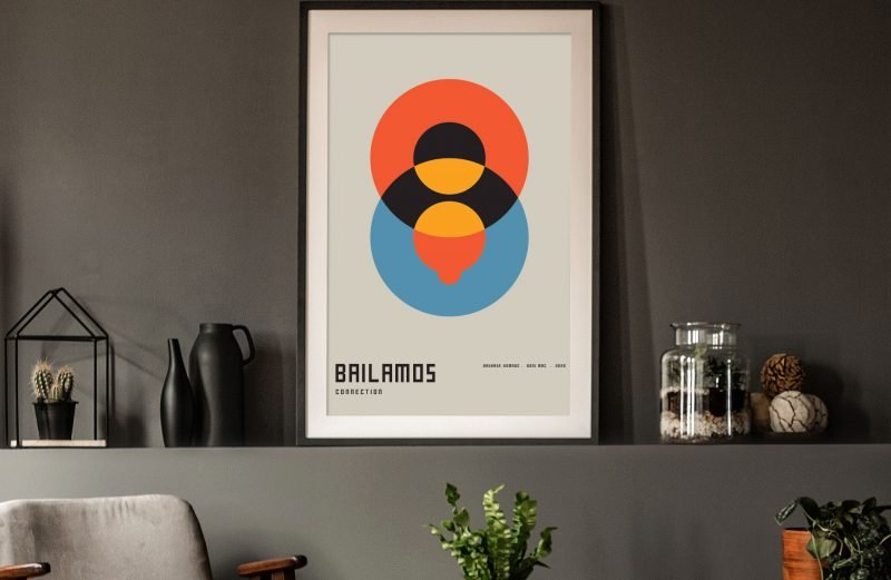 Connection - Bauhaus Homage - Bailamos Tango Art - Doni Mac